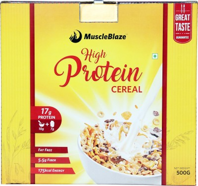 MuscleBlaze High Protein Cereal(500 g, Unflavored)