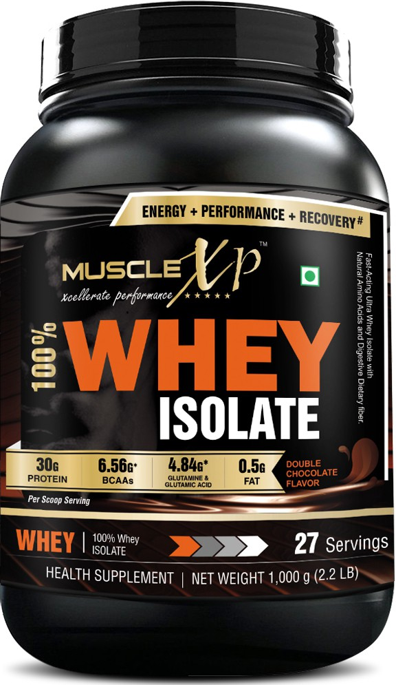 MuscleXP Pure Whey Isolate Whey Protein1 kg Double Chocolate