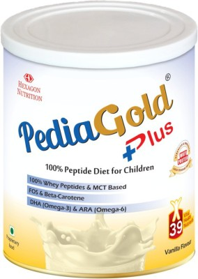 PEDIA GOLD PLUS VANILLA 400GM Whey Protein(400 g, Vanilla)