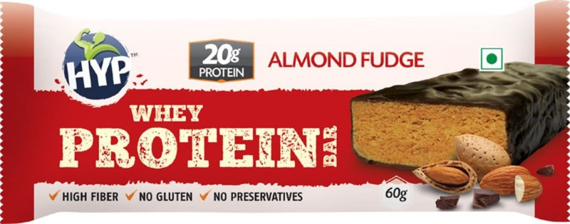 HYP Almond Fudge (Box of 6) Protein Bars(60 g, Almond)