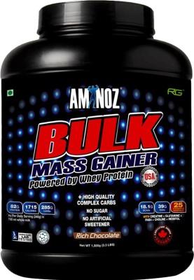 Aminoz Bulk Mass Gainer Whey Protein(1.5 kg, Chocolate)