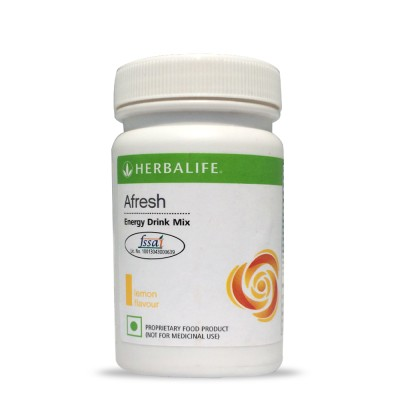 Herbalife Afresh Energy Drink Mix - 50gms - Lemon Flavour Protein Blends