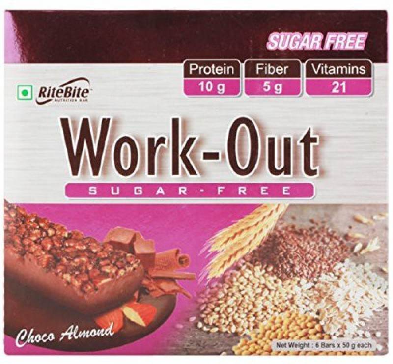 Ritebite Rite bite Work Out Bar Protein Bars(50 g, Choco ALmond)