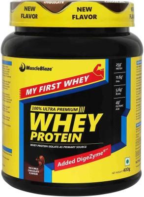 MuscleBlaze My First Whey Protein(400 g, Rich Milk Chocolate)
