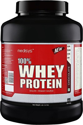 Medisys 100% Whey Protein - Chocolate - 2kg Whey Protein(2 kg, chocolate)