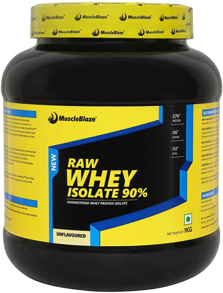 MuscleBlaze Raw Isolate Whey Protein1 kg Unflavored