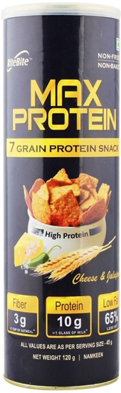 Ritebite Max Protein Cheese & Jalapeno -Pack of 5 Protein Bars(120 g, Cheese & Jalapeno)