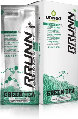 Unived RRUNN During Isotonic Hydration Electrolyte Sports Mix - Caffeinated, Green Tea Flavour, 6 Servings Nutrition Drink(214 g, Unflavored)