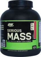 Optimum Nutrition Serious Mass Weight Gainers(2.72 kg, Strawberry)