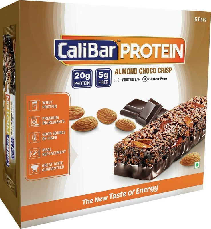 Cali Bar Almond chocolate�(Box of 6) Protein Bars(20 g, Almond chocolate)