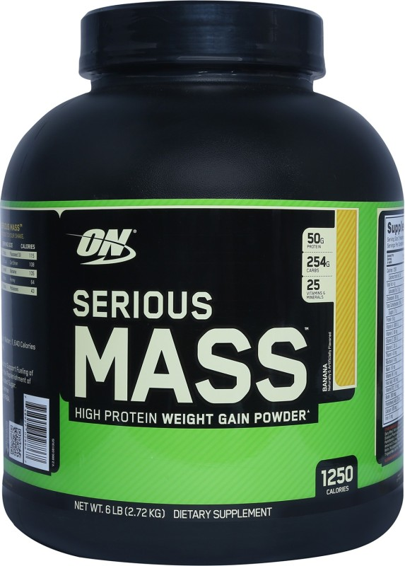 Optimum Nutrition Serious Mass Weight Gainers(2.72 kg, Banana)