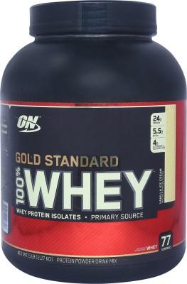 Optimum Nutrition Gold Standard 100% Whey Protein(2.27 kg, Vanilla Ice Cream)