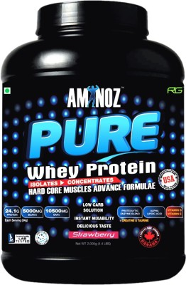 Aminoz Pure Whey Protein(2 kg, Strawberry)