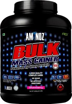 Aminoz Bulk Mass Gainer Whey Protein(3 kg, Strawberry)