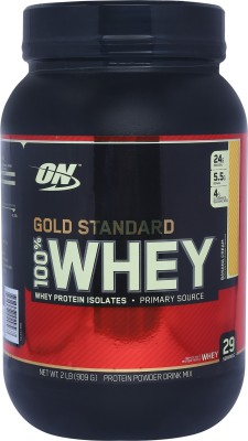 Optimum Nutrition Gold Standard 100% Whey Protein(0.907 kg, Banana Cream)