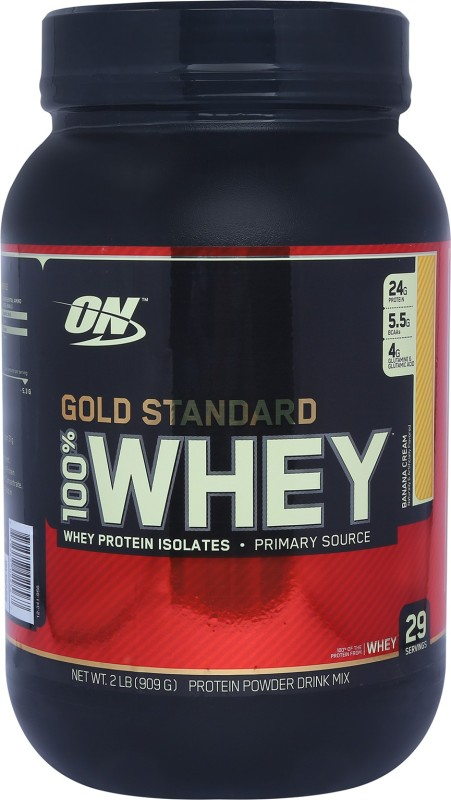 Optimum Nutrition Gold Standard 100% Whey Protein(0.907 kg, Banana Cream)