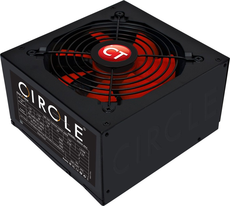 Circle 500W V2.31 500 Watts PSU(Black)