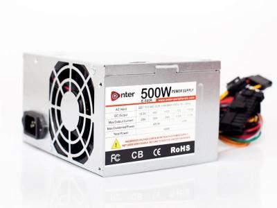 ENTER COMPUTER POWER SUPPLY 500W MODEL 500 Watts PSU(Silver)