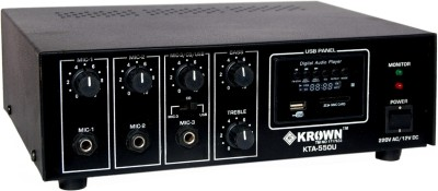 Krown Low Power PA Amplifier with Built-in Digital Player KTA-550-USB Indoor, Outdoor PA System(60 W)