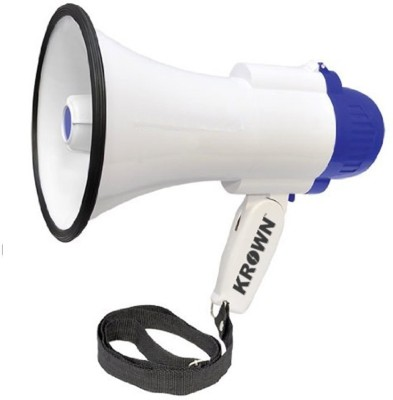 Krown 15 W Professional Megaphone Bullhorn with Talk and Record Function Cor5-HW-8R Indoor, Outdoor PA System(15 W)