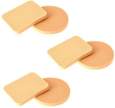 Yoana Make Up Compact Foundation Sponge Powder Puff (6 Pcs)