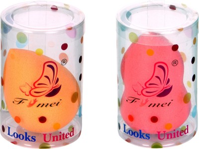 Looks United 2 Pc Makeup Beauty Foundation Sponge Blender