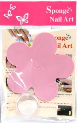 Konad Sponge Nail Art Rainbow Glitter Palette Set