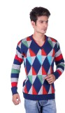 Blackvelly V-neck Woven Men's Pullover