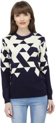 Camey Round Neck Self Design Women's Pullover