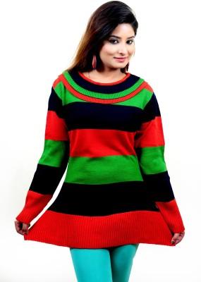 Laadli Ji Round Neck Striped Women,s Pullover