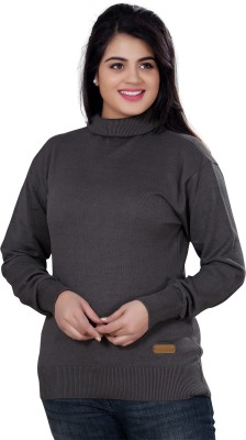 Stephen Armor Turtle Neck Solid Women's Pullover