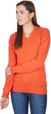 American Swan V-neck Solid Women's Pullover