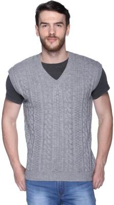 Chirayu V-neck Self Design Men,s Pullover