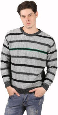 Freak,N by Cotton County Round Neck Striped Men's Pullover