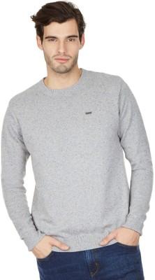 American Swan V-neck Self Design Men's Pullover