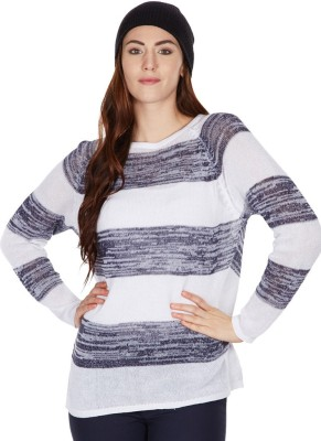 American Swan Round Neck Striped Women's Pullover