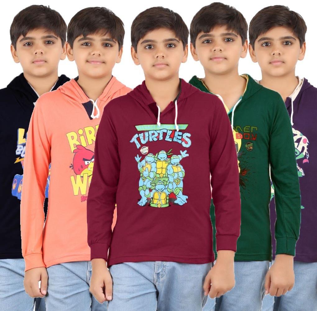 Meril V-neck Graphic Print Boys Pullover