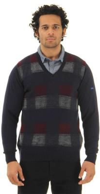 Monte Carlo V-neck Checkered Men's Pullover