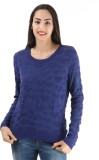 Only Round Neck Self Design Women's Pull...