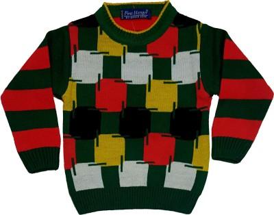 Groverz Round Neck Checkered Boy's Pullover