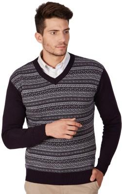 American Swan V-neck Striped Men's Pullover