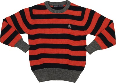 Wingsfield Round Neck Striped Boy's Pullover