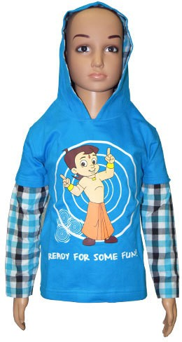 Chhota Bheem Round Neck Printed Boys Pullover