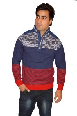 Fasholic Round Neck Geometric Print Men's Pullover