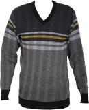 Just V-neck Self Design Men's Pullover