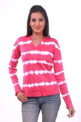 La Divyyu V-neck Printed Women's Pullover
