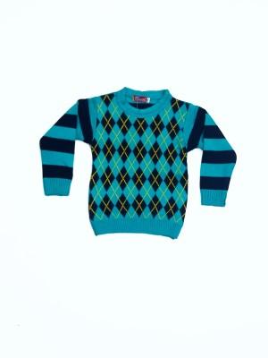 Groverz Round Neck Argyle Boy's Pullover