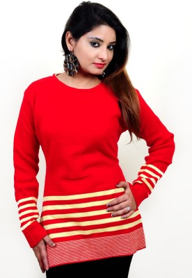 Laadli Ji Round Neck Self Design Women's Pullover