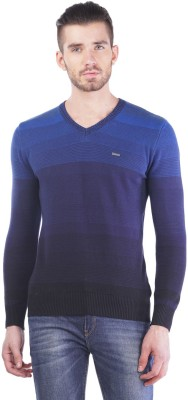 TSAVO V-neck Striped Men's Pullover