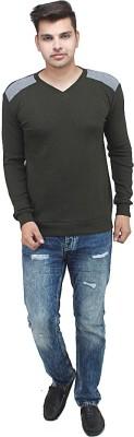 inkdice V-neck Solid Men's Pullover